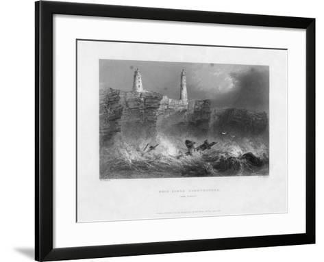 Ness Sands Lighthouses, Near Bristol, Goucestershire, 1841-Francis William Topham-Framed Art Print