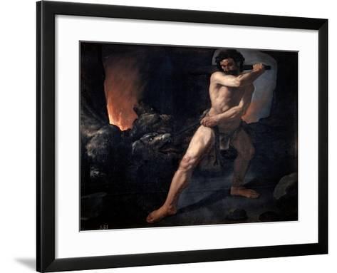 Hercules and Cerberus, C1634-Francisco de Zurbar?n-Framed Art Print