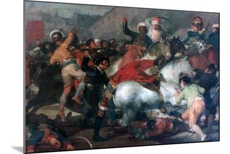 The Second of May 1808: Charge of the Mamelukes, 1814-Francisco de Goya-Mounted Giclee Print