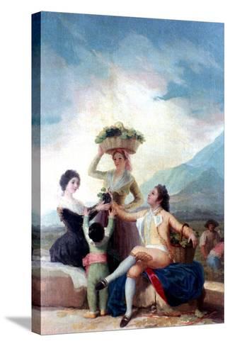 The Grape Harvest, 1786-1787-Francisco de Goya-Stretched Canvas Print