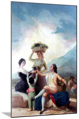 The Grape Harvest, 1786-1787-Francisco de Goya-Mounted Giclee Print