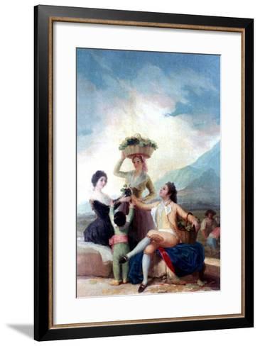 The Grape Harvest, 1786-1787-Francisco de Goya-Framed Art Print