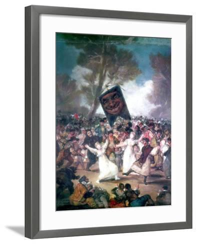 Bull Fight in a Village, 1812-1814-Francisco de Goya-Framed Art Print