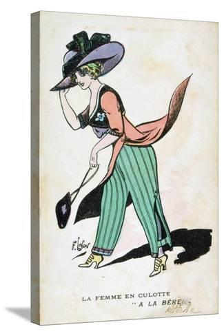 The Woman in Breeches, 20th Century-Francois Lafon-Stretched Canvas Print