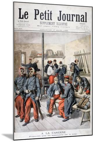 In the Barracks, Preparation for Manoeuvres in the Snow, 1895-Frederic Lix-Mounted Giclee Print