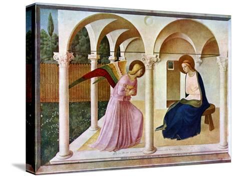 The Annunciation, C1438-1445, (C1900-192)-Fra Angelico-Stretched Canvas Print