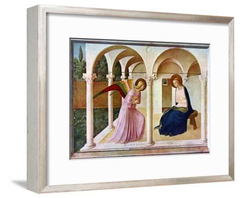 The Annunciation, C1438-1445, (C1900-192)-Fra Angelico-Framed Art Print