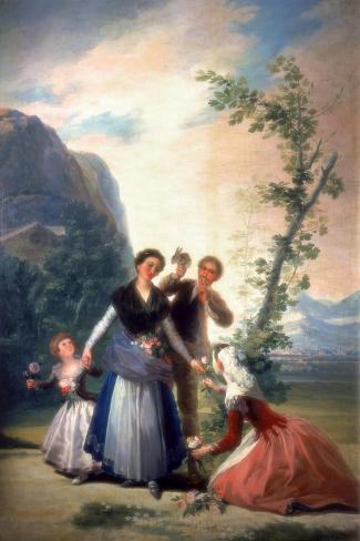 The Florists or Spring, 1786-Francisco de Goya-Stretched Canvas Print