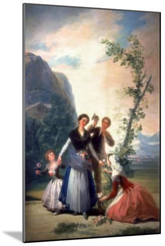 The Florists or Spring, 1786-Francisco de Goya-Mounted Giclee Print