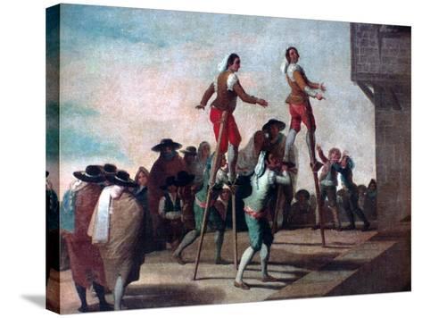 The Stilts, C1785-Francisco de Goya-Stretched Canvas Print