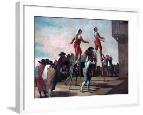The Stilts, C1785-Francisco de Goya-Framed Art Print