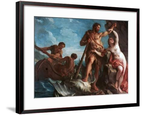 Heracles Delivering Hesione, C1708-1737-Francois Lemoyne-Framed Art Print
