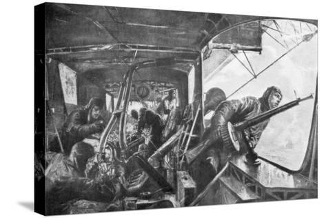 On Board a Zeppelin, German Air Fleet, First World War, 1917-Felix Schwormstadt-Stretched Canvas Print