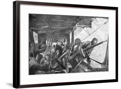 On Board a Zeppelin, German Air Fleet, First World War, 1917-Felix Schwormstadt-Framed Art Print
