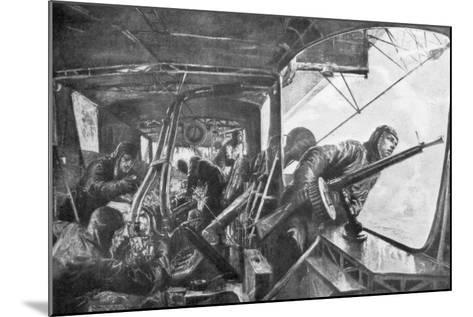 On Board a Zeppelin, German Air Fleet, First World War, 1917-Felix Schwormstadt-Mounted Giclee Print