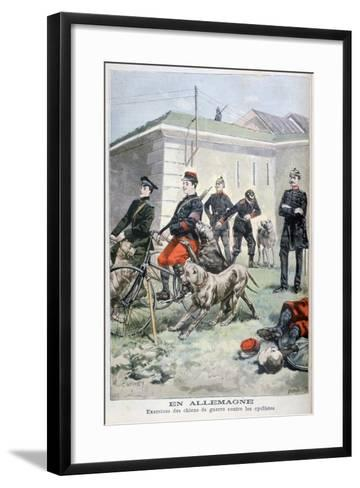 Training Army Dogs to Attack Cyclists, Germany, 1897-F Meaulle-Framed Art Print