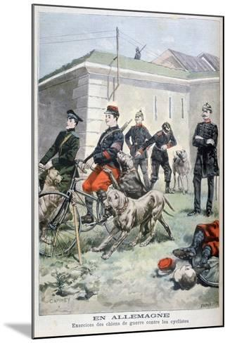 Training Army Dogs to Attack Cyclists, Germany, 1897-F Meaulle-Mounted Giclee Print