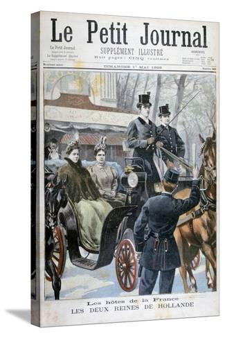 The Two Queens of Holland Visiting Paris, France, 1898-F Meaulle-Stretched Canvas Print