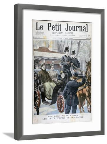 The Two Queens of Holland Visiting Paris, France, 1898-F Meaulle-Framed Art Print