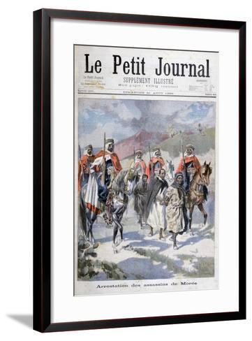 Arrest of the Assassins of Mores, Algeria, 1898-F Meaulle-Framed Art Print