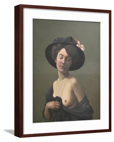 Young Woman in a Black Hat, 1908-F?lix Vallotton-Framed Art Print