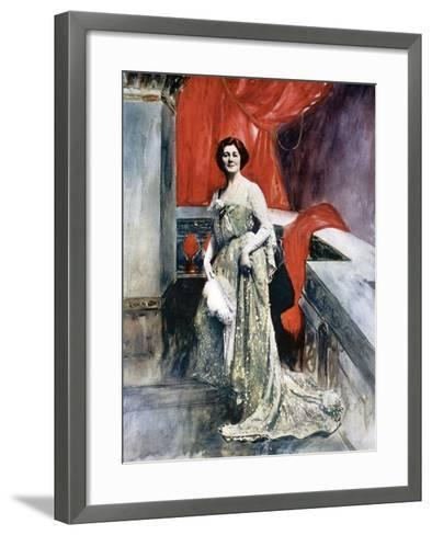 Miriam Clements, Stage Actress, C1902-Fellows Wilson-Framed Art Print