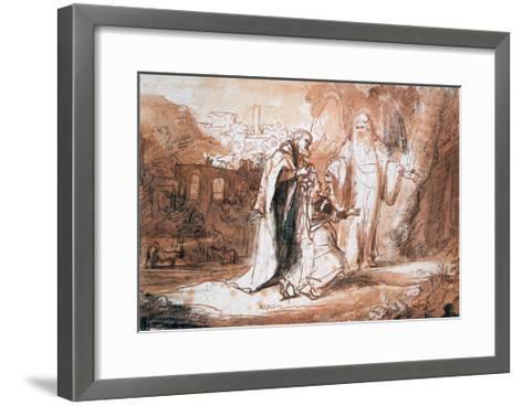 An Angel of the Lord Appeared to Manoah's Wife..., C1636-1680-Ferdinand Bol-Framed Art Print