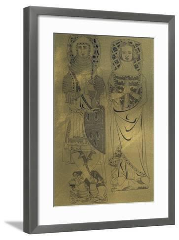 A Copper Plaque from Minster Abbey and Church, Isle of Sheppey, Kent, 1337-Franz Kellerhoven-Framed Art Print