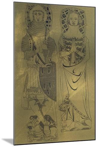 A Copper Plaque from Minster Abbey and Church, Isle of Sheppey, Kent, 1337-Franz Kellerhoven-Mounted Giclee Print