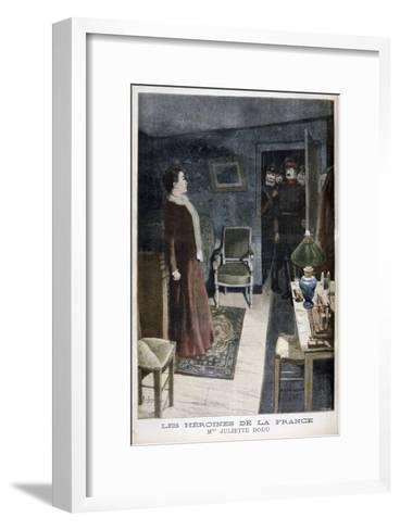 Juliette Dodu, Heroin of France, 1896-F Meaulle-Framed Art Print