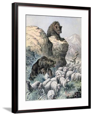 Bears of the Cagyre, 1891-F Meaulle-Framed Art Print