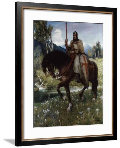 Parsifal in Quest of the Holy Grail, 1912-Ferdinand Leeke-Framed Art Print