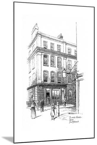 William Blake's House, Soho, London, 1912-Frederick Adcock-Mounted Giclee Print