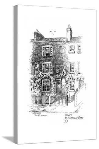 William Blake's House, 23 Hercules Road, London, 1912-Frederick Adcock-Stretched Canvas Print