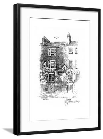 William Blake's House, 23 Hercules Road, London, 1912-Frederick Adcock-Framed Art Print