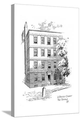 Oliver Goldsmith's House, 2 Brick Court, Temple, London, 1912-Frederick Adcock-Stretched Canvas Print