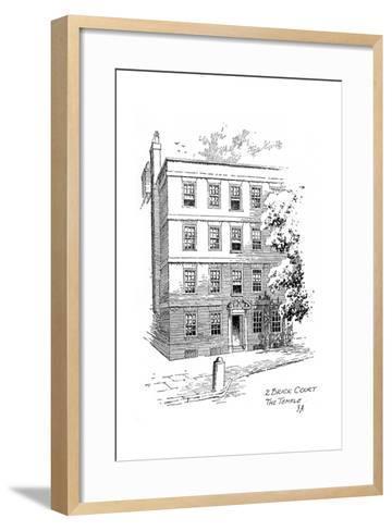 Oliver Goldsmith's House, 2 Brick Court, Temple, London, 1912-Frederick Adcock-Framed Art Print