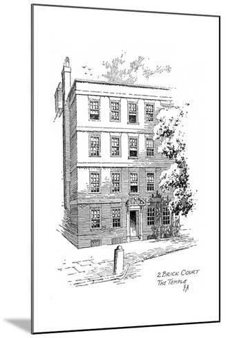 Oliver Goldsmith's House, 2 Brick Court, Temple, London, 1912-Frederick Adcock-Mounted Giclee Print