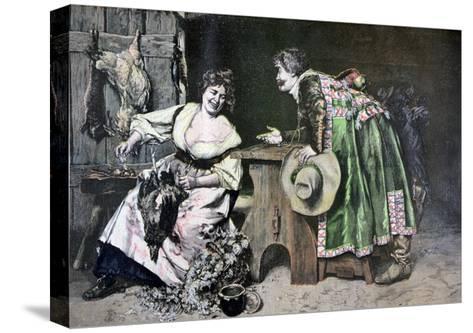 Gallant Remarks, 1893-Ferdinand Roybet-Stretched Canvas Print