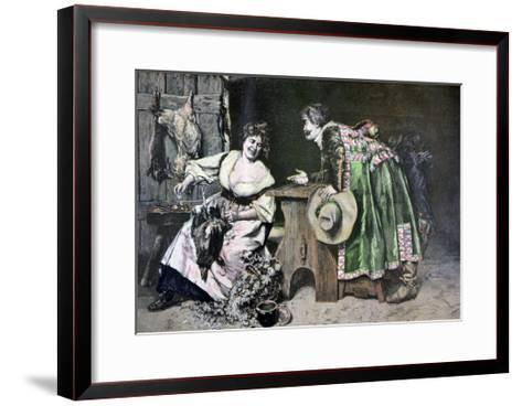 Gallant Remarks, 1893-Ferdinand Roybet-Framed Art Print