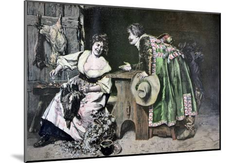 Gallant Remarks, 1893-Ferdinand Roybet-Mounted Giclee Print