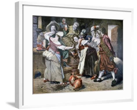 The Hot Hand, 1894-Ferdinand Roybet-Framed Art Print