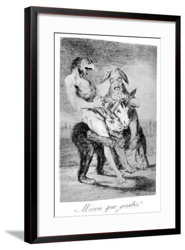 Look How Solemn They Are!, 1799-Francisco de Goya-Framed Art Print