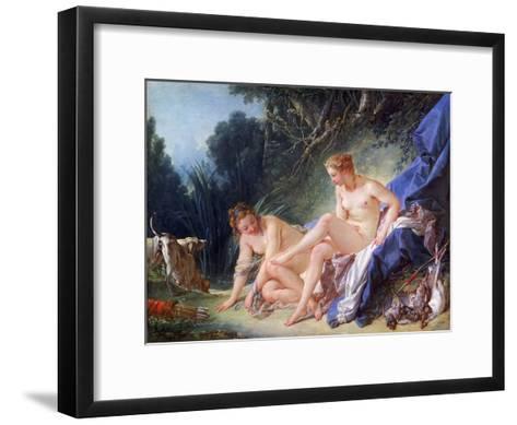 Diana Getting Out of Her Bath, 1742-Fran?ois Boucher-Framed Art Print