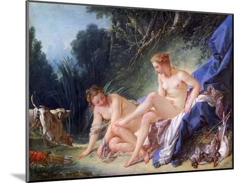 Diana Getting Out of Her Bath, 1742-Fran?ois Boucher-Mounted Giclee Print