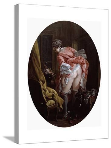 The Raised Skirt, 1742-Fran?ois Boucher-Stretched Canvas Print