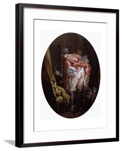 The Raised Skirt, 1742-Fran?ois Boucher-Framed Art Print