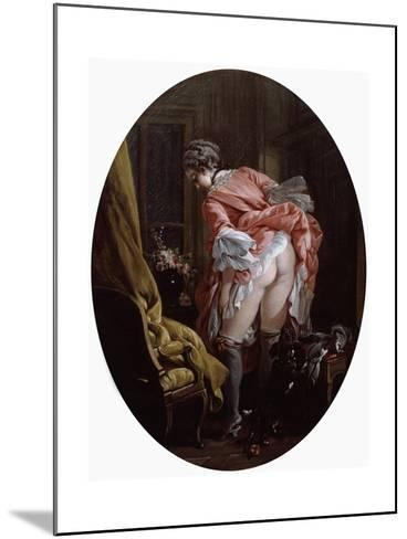 The Raised Skirt, 1742-Fran?ois Boucher-Mounted Giclee Print