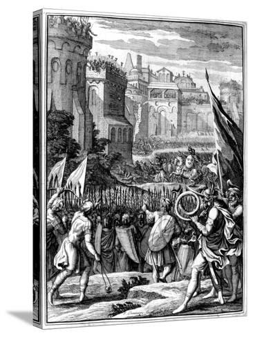 Forces under Alaric I, King of the Visigoths from 395, Sacking Rome, 410 (165)-Francois Chauveau-Stretched Canvas Print