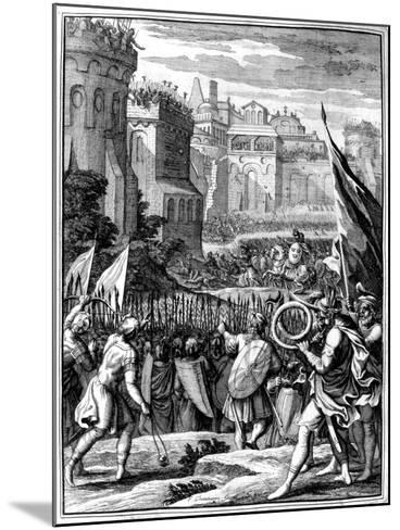 Forces under Alaric I, King of the Visigoths from 395, Sacking Rome, 410 (165)-Francois Chauveau-Mounted Giclee Print